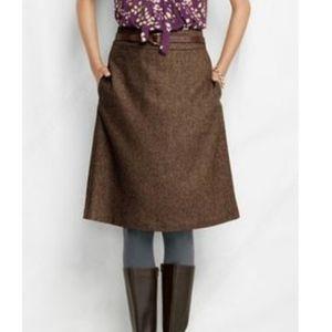 Lands' End Herringbone Tweed Skirt